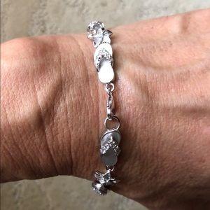 Sterling silver slipper bracelet